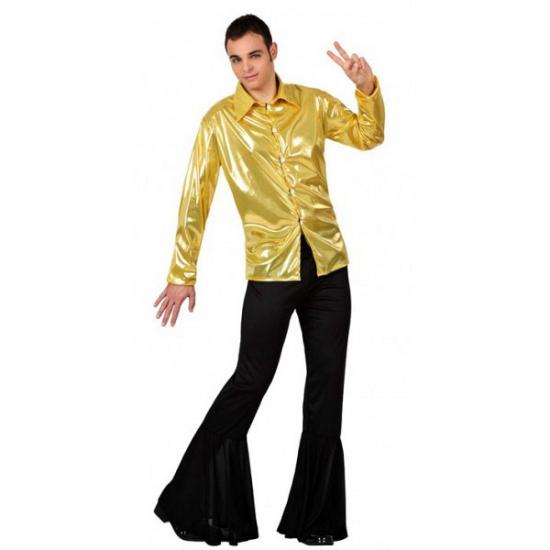 gouden heren blouse
